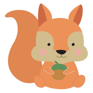 Woodland Friends Squirrel Banners