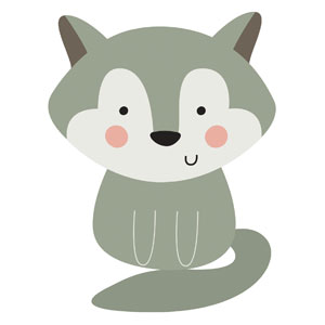 Woodland Friends Wolf StickUp
