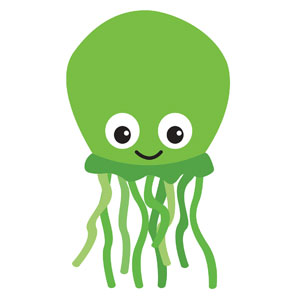 Ocean Buddies Squid Banners