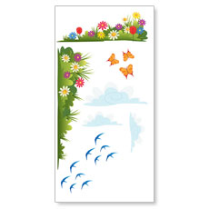 Bright Meadow Wall Set 1