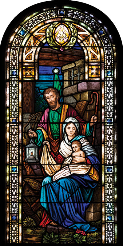 Christmas Stained Glass Banner Church Banners Outreach