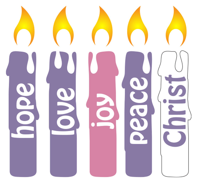 Banners, Christmas, Advent Candles Set, 5' x 8'