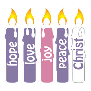 Advent Candles Set StickUp