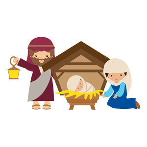 Children's Nativity Scene Banners