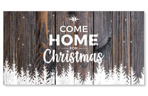 Dark Wood Christmas Come Home Social Media Ad Packages