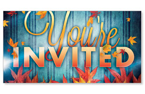 Fall Fest Blue You're Invited Social Media Ad Packages