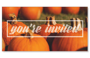 Pumpkin Event You're Invited Social Media Ad Packages
