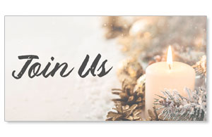 Christmas Eve Snowy Candle Join Us Social Media Ad Packages