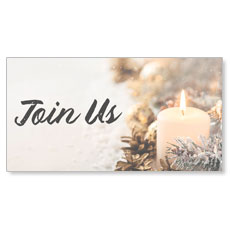 Christmas Eve Snowy Candle Join Us