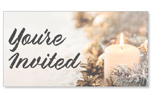 Christmas Eve Snowy Candle Youre Invited Social Media Ad Packages