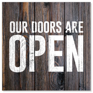 Dark Wood Doors Are Open Social Media Ad Packages