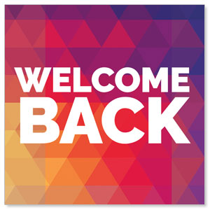 Geometric Bold Welcome Back Social Media Ad Packages