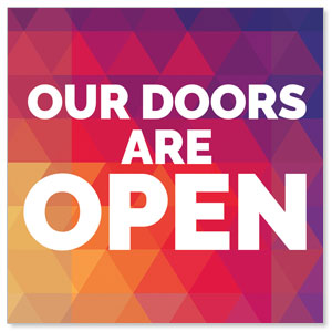 Geometric Bold Doors Are Open Social Media Ad Packages