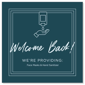 Welcome Back Hand Sanitizer Social Media Ad Packages