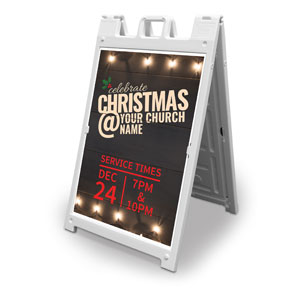 Christmas At Lights 2' x 3' Street Sign Banners