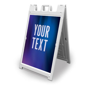 Aurora Lights Your Text Here 2' x 3' Street Sign Banners