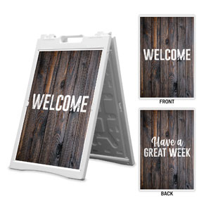Dark Wood Welcome Great Week 2' x 3' Street Sign Banners