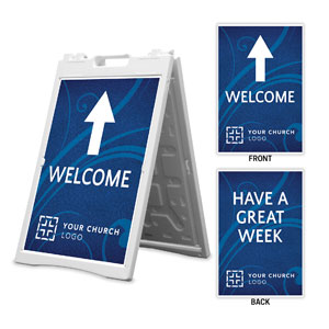Flourish Welcome Great Week 2' x 3' Street Sign Banners