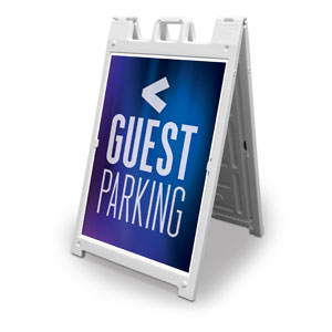 Aurora Lights Guest Parking 2' x 3' Street Sign Banners
