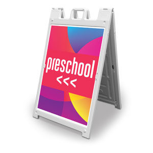 Curved Colors Preschool 2' x 3' Street Sign Banners