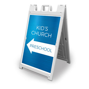 Blue Kids Church Preschool 2' x 3' Street Sign Banners