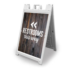 Dark Wood Restrooms