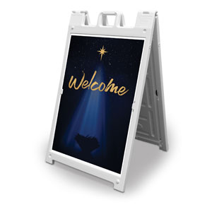 Christmas Star Hope is Born Welcome 2' x 3' Street Sign Banners