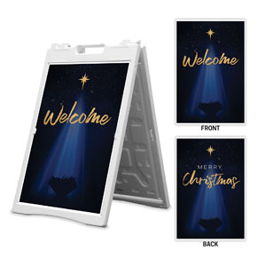 Christmas Star Hope is Born Welcome Christmas 2' x 3' Street Sign Banners