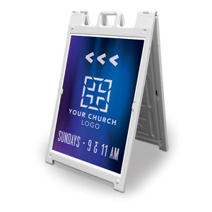 Aurora Lights Church Logo 2' x 3' Street Sign Banners