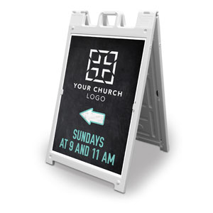 Slate Church Logo 2' x 3' Street Sign Banners