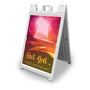 But God 2' x 3' Street Sign Banners