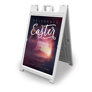 Dramatic Tomb Easter 2' x 3' Street Sign Banners