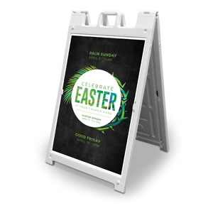 Easter Palm Crown 2' x 3' Street Sign Banners