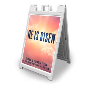 He Is Risen Bold 2' x 3' Street Sign Banners