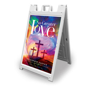 No Greater Love 2' x 3' Street Sign Banners