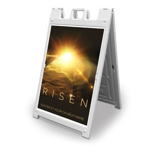 Risen Light Tomb 2' x 3' Street Sign Banners