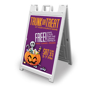 Purple Trunk or Treat 2' x 3' Street Sign Banners