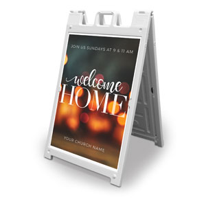 Welcome Home Lights 2' x 3' Street Sign Banners
