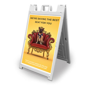 Saving A Seat For You 2' x 3' Street Sign Banners