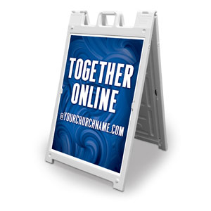 Blue Waves Together Online 2' x 3' Street Sign Banners