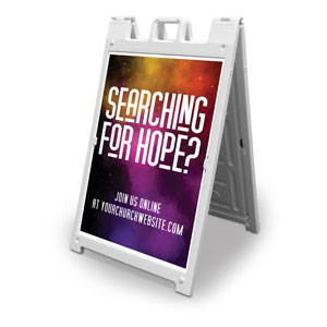 Dark Smoke Searching For Hope 2' x 3' Street Sign Banners
