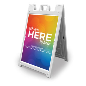 Spectral Color Here To Help 2' x 3' Street Sign Banners
