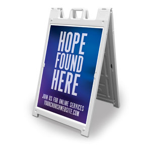 Aurora Lights Hope Found Here 2' x 3' Street Sign Banners