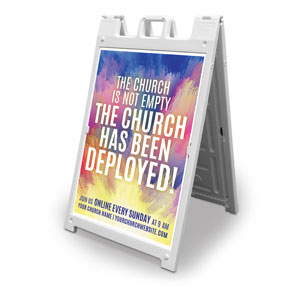 Sunrise Paint Church Deployed 2' x 3' Street Sign Banners