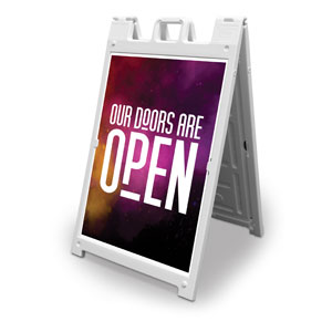 Dark Smoke Doors Are Open 2' x 3' Street Sign Banners