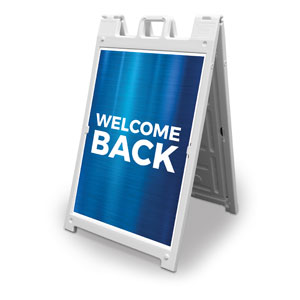 General Blue Welcome Back 2' x 3' Street Sign Banners