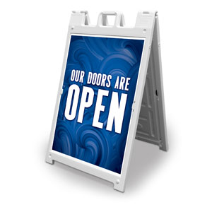 Blue Waves Doors Are Open 2' x 3' Street Sign Banners