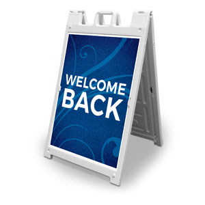 Flourish Welcome Back 2' x 3' Street Sign Banners
