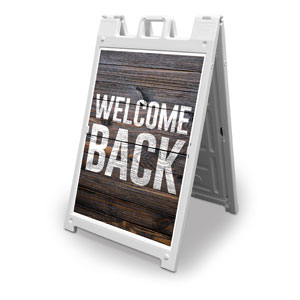 Dark Wood Welcome Back 2' x 3' Street Sign Banners