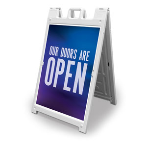 Aurora Lights Doors Are Open 2' x 3' Street Sign Banners